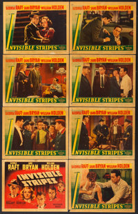"Invisible Stripes (Warner Brothers, 1939). Linen Finish Lobby Card Set of 8 (11"" X 14""). ... (Total: 8 Items)"