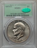 Eisenhower Dollars, 1973-D $1 MS66+ PCGS. CAC. PCGS Population (312/12 and 12/0+). NGC Census: (71/3 and 0/0+). Mintage: 2,000,000. ...