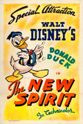 "Movie Posters:Animated, Donald Duck in The New Spirit (RKO, 1942). One Sheet (27"" X 41"").. ..."