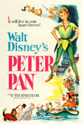 """Movie Posters:Animation, Peter Pan (RKO, 1953). One Sheet (27"""" X 41"""").. ..."""
