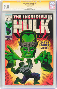 The Incredible Hulk #115 Signature Series (Marvel, 1969) CGC NM/MT 9.8 White pages