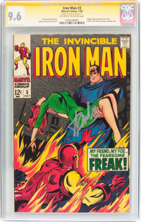 Iron Man #3 Signature Series (Marvel, 1968) CGC NM+ 9.6 Off-white to white pages