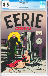 Eerie #1 (1947) (Avon, 1947) CGC VF+ 8.5 Off-white pages