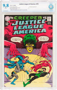 Justice League of America #70 (DC, 1969) CBCS NM/MT 9.8 White pages