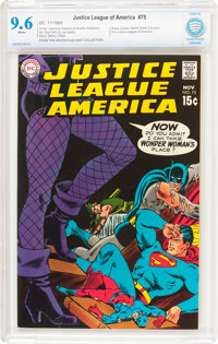 Justice League of America #75 (DC, 1969) CBCS NM+ 9.6 White pages