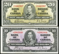 Canadian Currency: , Canada 1937.. ... (Total: 2 notes)
