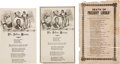 Political:Memorial (1800-present), Abraham Lincoln: Three Mourning Song Sheets.... (Total: 3 Items)