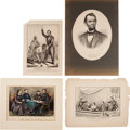 Political:Memorial (1800-present), Abraham Lincoln: Four Currier & Ives Prints.... (Total: 4 Items)