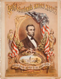 Political:Small Paper (pre-1896), Abraham Lincoln: Colorful 1862 Patriotic Sheet Music....