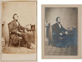 "Photography:CDVs, Abraham Lincoln: ""Inkwell Pose"" Cartes-de-Visite.... (Total: 2 Items)"