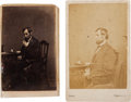 Photography:CDVs, Abraham Lincoln: Unusual Pair of Cartes-de-Visite.... (Total: 2 Items)