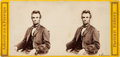 Photography:Stereo Cards, Abraham Lincoln: Rare Anthony Stereo View....