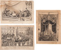 Political:Memorial (1800-present), Abraham Lincoln: Currier & Ives Prints.... (Total: 3 Items)