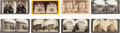 Photography:Stereo Cards, Abraham Lincoln: Group of Stereo Views.... (Total: 8 Items)
