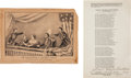 Political:Memorial (1800-present), Abraham Lincoln: Currier & Ives Print and Bonus.... (Total: 2 Items)