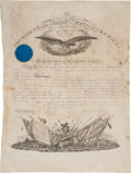 Autographs:U.S. Presidents, Abraham Lincoln: Military Appointment Signed....