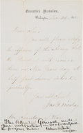 Autographs:Statesmen, [Abraham Lincoln]: Letter Signed By John Nicolay and Edwin Stanton....