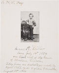 Autographs:Celebrities, Abraham Lincoln]: Isaac R. Diller Inscribed Photograph....