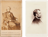Abraham Lincoln and Andrew Johnson: Cartes-de-Visite