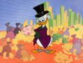 "Animation Art:Seriograph, Scrooge McDuck ""Money in the Bank"" Sericel (Walt Disney,1997)...."