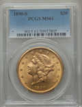 Liberty Double Eagles: , 1890-S $20 MS61 PCGS. PCGS Population (368/816). NGC Census: (661/494). Mintage: 802,750. ...