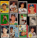 Baseball Cards:Lots, 1948-90 Multi-Brand Warren Spahn Card Collection (25) IncludesSigned 1963 Fleer....