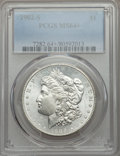 Morgan Dollars: , 1902-S $1 MS64+ PCGS. PCGS Population (1492/384 and 60/14+). NGC Census: (814/117 and 12/1+). Mintage: 1,530,000. CDN Wsl. ...
