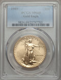 Modern Bullion Coins: , 1989 $50 One-Ounce Gold Eagle MS69 PCGS. PCGS Population (788/14). NGC Census: (1445/35). CDN Wsl. Price for problem free ...