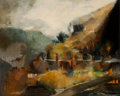 Fine Art - Painting, American:Contemporary   (1950 to present)  , Dan Wingren (American, 1923-1998). European Hills, 1960. Oilon canvas. 24 x 30 inches (61 x 76.2 cm). Signed and dated ...