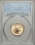Modern Bullion Coins: , 1989 $10 Quarter-Ounce Gold Eagle MS69 PCGS. PCGS Population (1326/45). NGC Census: (2347/100). CDN Wsl. Price for problem...
