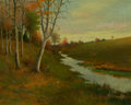 Fine Art - Painting, American:Modern  (1900 1949)  , George Howell Gay (American, 1858-1931). Meadow Brook, 1916.Oil on canvas. 16 x 20 inches (40.6 x 50.8 cm). Signed and ...