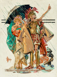 Joseph Christian Leyendecker (American, 1874-1951) To the Vanquished, Saturday Evening Post cover, Marc