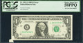 Error Notes:Foldovers, Fr. 1913-L $1 1985 Federal Reserve Note. PCGS Choice About New58PPQ.. ...