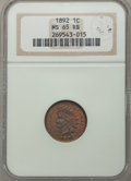 Indian Cents, 1892 1C MS65 Red and Brown NGC. Eagle Eye Photo Seal. NGC Census: (59/5). PCGS Population (26/1). Mintage: 37,649,832. CDN ...
