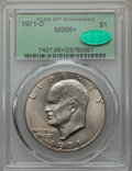 1971-D $1 MS66+ PCGS. CAC. PCGS Population (1058/28 and 29/0+). NGC Census: (647/44 and 2/0+). Mintage: 68,587,424. ...(...