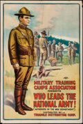 "Movie Posters:War, Who Leads the National Army! (Triangle, 1917). One Sheet (27.5"" X41""). War.. ..."