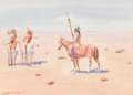 Works on Paper, Leonard Howard Reedy (American, 1899-1956). Sioux Meeting Cheyenne. Watercolor on paper. 7-5/8 x 10-3/8 inches (19.4 x 2...
