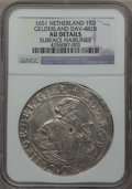 Netherlands:Gelderland, Netherlands: Gelderland. Provincial 48 Stuivers 1651-Lily AUDetails (Surface Hairlines) NGC,...