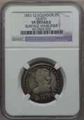 Ecuador, Ecuador: Republic 2 Reales 1851 VF Details (Surface Hairlines) NGC,...