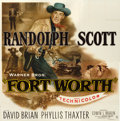 """Movie Posters:Western, Fort Worth (Warner Brothers, 1951). Six Sheet (81"""" X 81"""").. ..."""