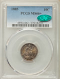 Seated Dimes, 1885 10C MS66+ PCGS. CAC. PCGS Population (24/11). NGC Census: (45/13). Mintage: 2,532,497....