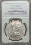 Mexico, Mexico: Charles III 8 Reales 1777 Mo-FM UNC Details (1777) NGC,...