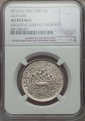 China:Tibet, China: Tibet. 3 Srang BE 16-10 (1936) AU Details (Excessive SurfaceHairlines) NGC,...
