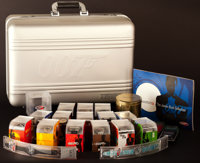 """James Bond Watch Lot (Swatch, 2002). Watches (20) (Various Sizes), Watch Briefcase (8.5"""" X 20"""" X 14""""), &a..."""