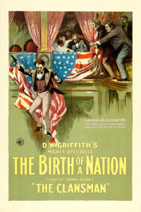 "The Birth of a Nation (Epoch Producing, 1915). One Sheet (28"" X 42"")"