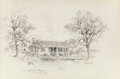 "Fine Art - Work on Paper:Drawing, Edward Muegge ""Buck"" Schiwetz (American, 1898-1984). PresidentJohnson's Birthplace, Stonewall, 1969. Pencil on paper. 1..."