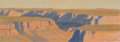 Fine Art - Work on Paper:Drawing, Ed Mell (American, b. 1942). Study for Distant Canyon.Pastel on paper. 6 x 17 inches (15.24 x 43.1 cm) (image). 11-3/4... (Total: 2 Items)