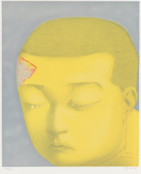 Xiaogang Zhang (Chinese, b. 1958) Fantasy, 2002 Lithograph in colors 25-3/4 x 21-1/4 inches (65.4