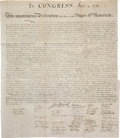 William J. Stone for Peter Force: The Declaration of Independence