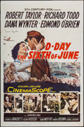"Movie Posters:War, D-Day The Sixth of June & Other Lot (20th Century Fox, 1956).Autographed One Sheet & One Sheet (27"" X 41""). War.. ...(Total: 2 Items)"